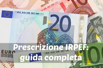 Prescrizione irpef in quanto si prescrive una cartella for Pagamento irpef