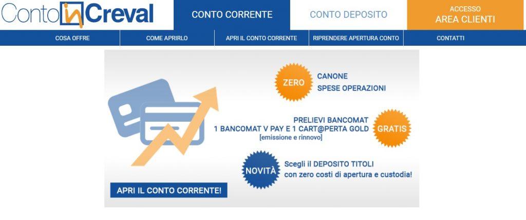 Circuito V Pay : Contoincreval guida al conto di banca credito valtellinese