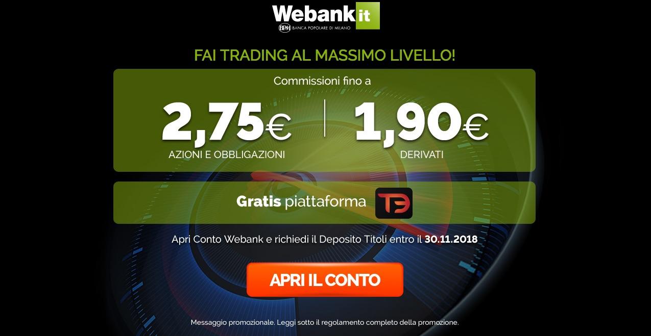 webank costi trading