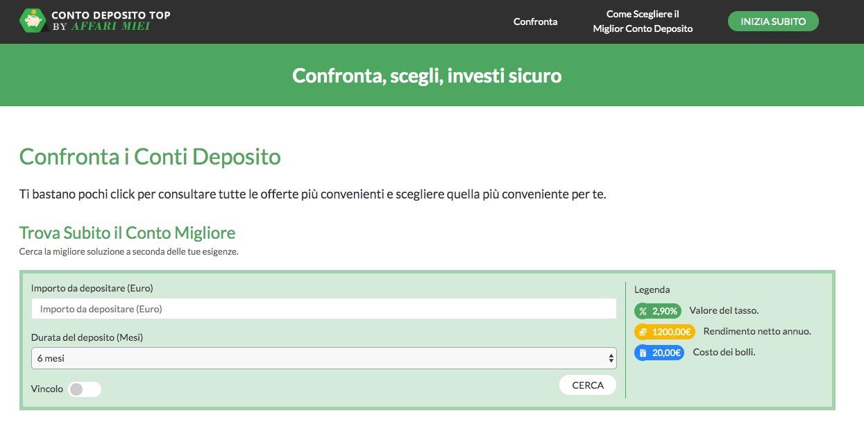 Miglior Conto Deposito 2020 Interessi 4 Dove Conviene Vincolare Soldi