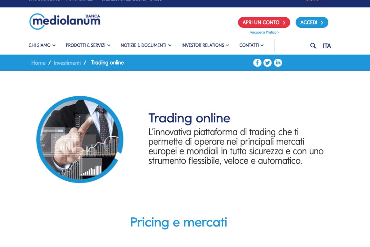 trading online mediolanum